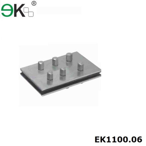 stainless steel glass fin plate for glass spider