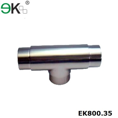 316 equal tee flush tube connector