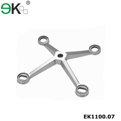 Stainless steel glass curtain wall four arms glass spider fitting
