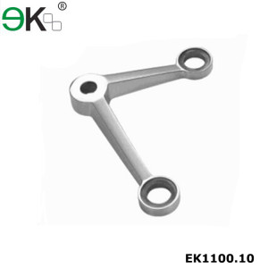 stainless steel two way 90 degree glass spider fitting