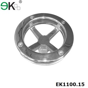 stainles steel round glass fin spider fitting