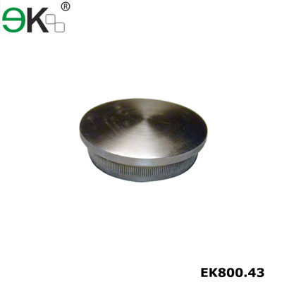 Stainless steel tube fitting flush flat end cap
