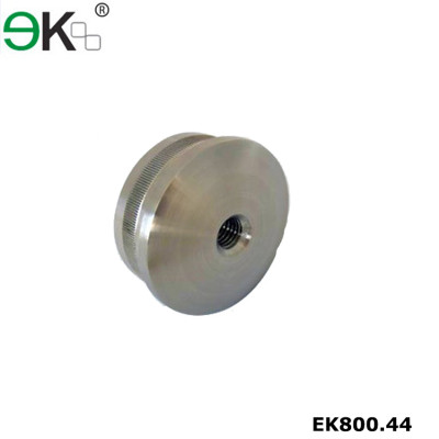 Stainless steel flat end cap with screw hole