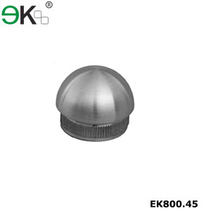 Stainless steel balustrade post knurled circle dome end cap