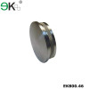 Stainless steel handrail flat round tube knurled end cap