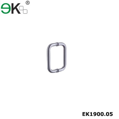 Stainless steel glass door handle with round pipe double side