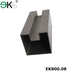 Stainless Steel Square Single Slot Tube