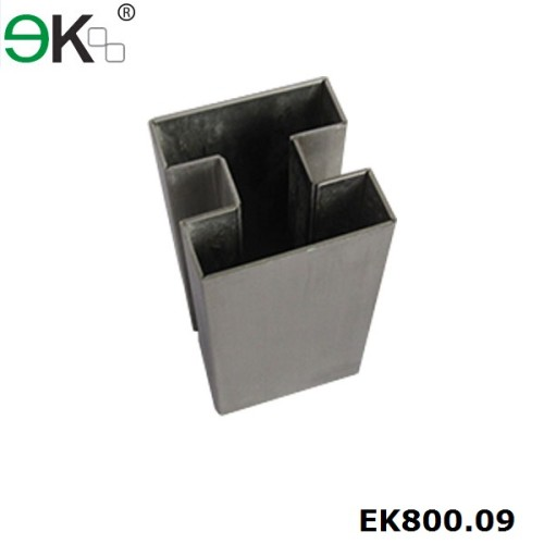Stainless steel handrail square 180 degree double slots pipe
