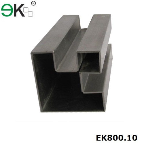 Stainless Steel Square 90 Degree Double Slots Tube