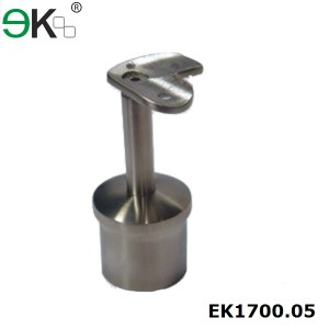 stainless steel 90 degree round handrail saddle support