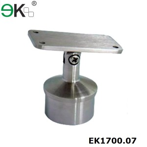 Adjustable Round Post Flat Handrail Saddle  Bracket
