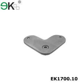 stainless steel 90 degree saddle handrail support bracket for flat handrail