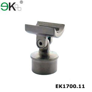 railing support top mounted adjustable straight saddle bracket