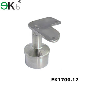 Stainless steel angle stair 90 degree round tube handrail bracket