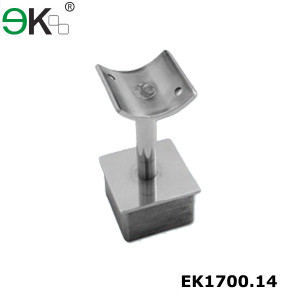 Square Fixed Straight Saddle Hand Railing Bracket