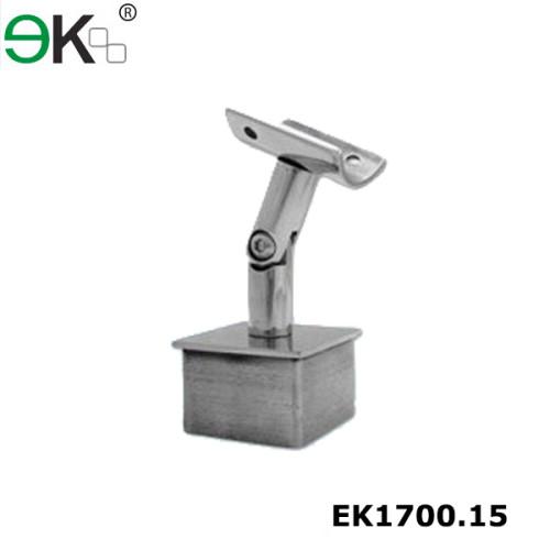 square base tube support adjustable handrail brackets