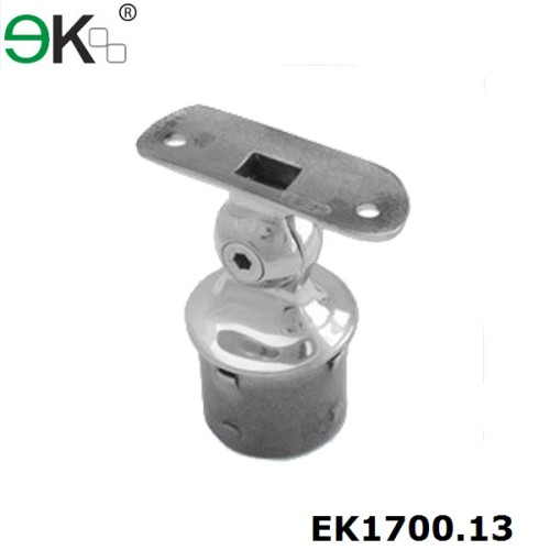 Stainless steel adjustable ball joint saddle handraill brackets for stair railing