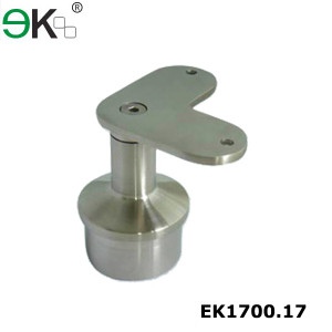 stainless steel flat 90 degree top mounted fixed stair handrail bracket