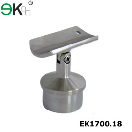 stainless steel outdoor round tube angle railing bracket
