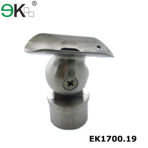 Stainless steel adjustable ball railing support bracket