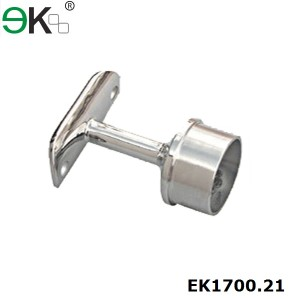 stainless steel fixed post cap for handrail support