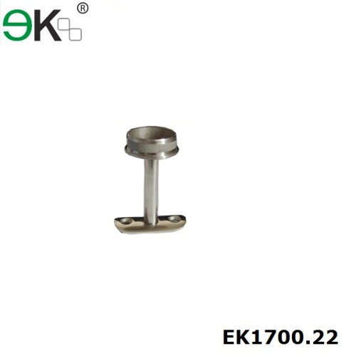 Stainless steel fixed baluster saddle support hand railing bracket