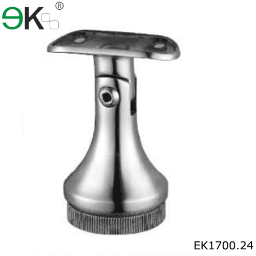adjustable stainless steel round post handrail support