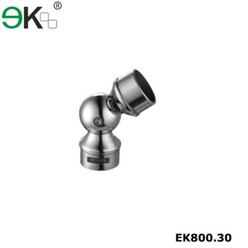 Stainless steel flexible glass handrail round tube holder
