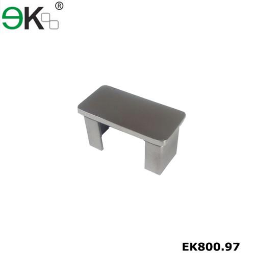 Stainless steel stair handrail rectangular slotted tube end cap