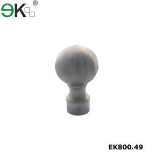 316 polished stainless steel ball finial end cap