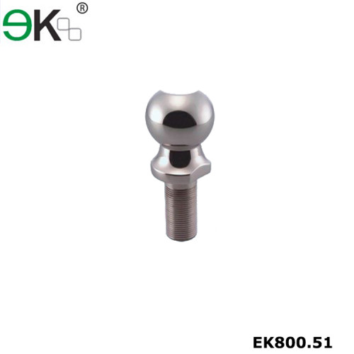 Stainless steel short shank tow trailer hitch ball