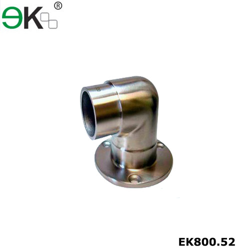 Stainless steel glass handrail square post base plate