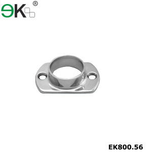Stainless steel handrail fixing oblong base plate flange