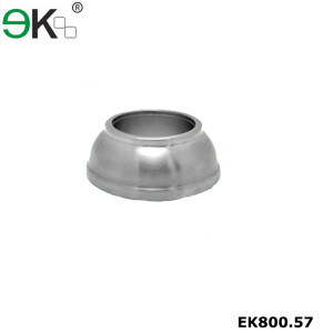 Stainless steel handrail round bowl base plate cover