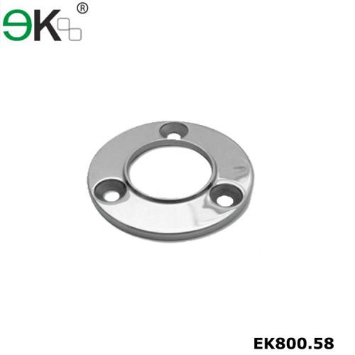 Stainless steel glass handrail baluster tube round base flange