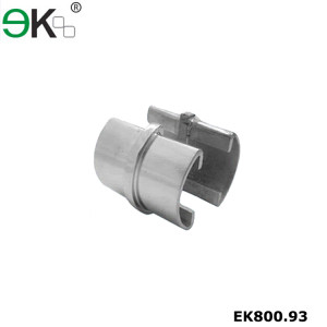 Stainless steel glass channel 2 way slot tube connector