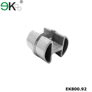 Stainless steel 180 degree double slot round tube connector