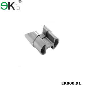 Stainless steel glass post round double slot tube connector
