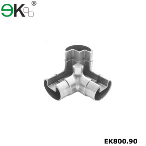pipe fitting flush Tee joint 3 way round tube connector
