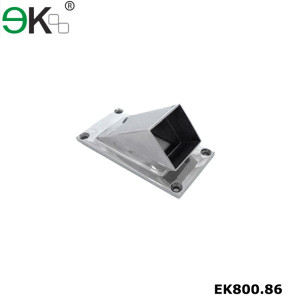 Stainless steel oblong base plate square wall stop floor connector