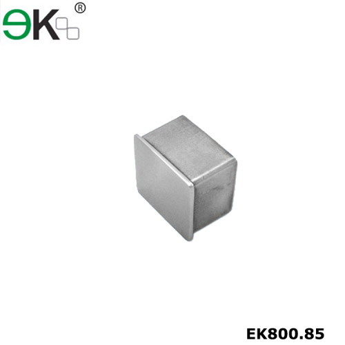 Stainless steel handrail fitting square tube end cap
