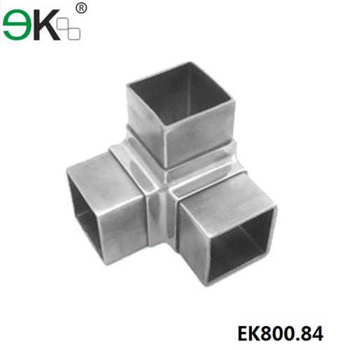 90 degree corner stainless steel flush joiner fit square pipe connector