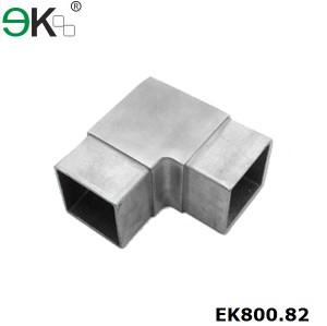 90 Degree stainless steel square elbow angle tube flush joiner
