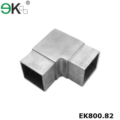 90 Degree stainless steel square elbow angle tube flush joiner