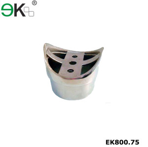 Stainless steel round tube perpendicular joiner flush fitting
