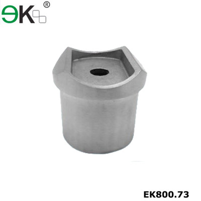 Stainless steel flush fitting round handrail horizontal joiner
