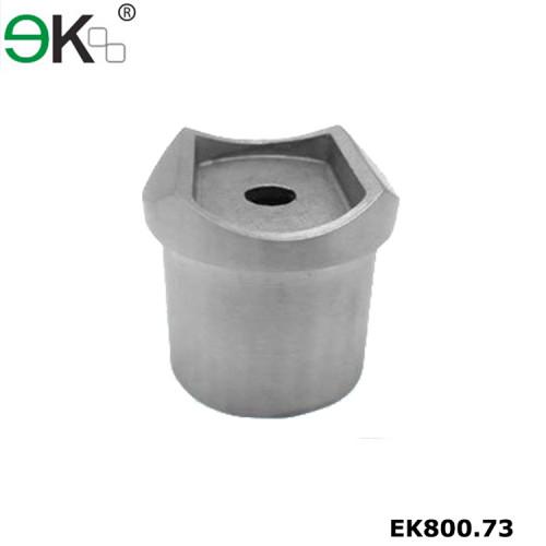 Stainless steel flush fitting round handrail horizontal joiner