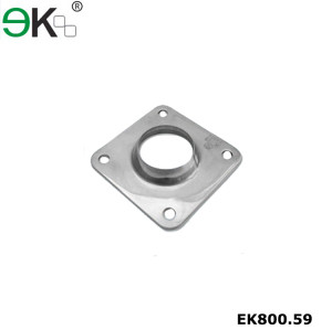 Stainless steel handrail fitting square tube post base plate