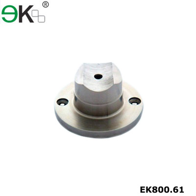 Stainless steel pipe fitting base plate rail support flange