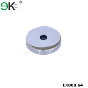 Stainless steel glass baluster round handrail base plate cover